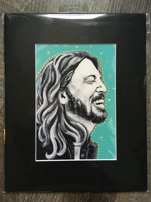 Dave Grohl Matted Print