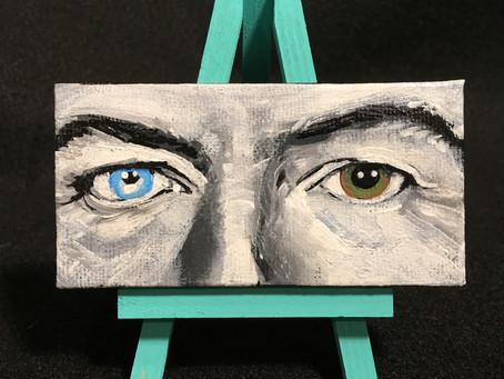 Mini Canvas Painting: David Bowie Eyes