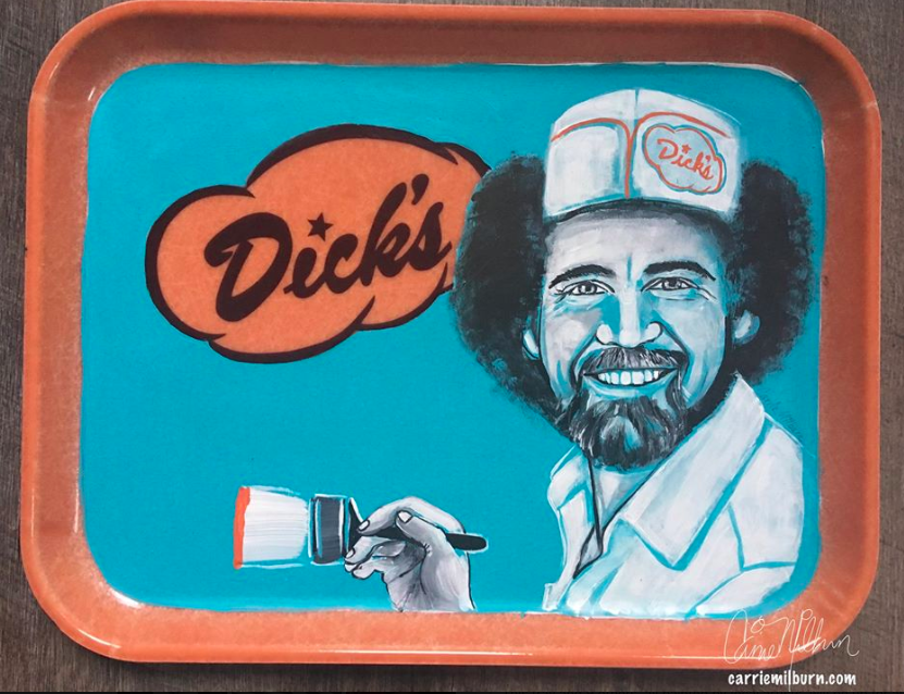 dicks-drive-in-art-show
