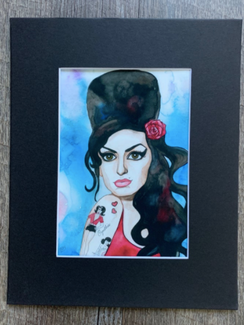 Amy Winehouse Matted Print