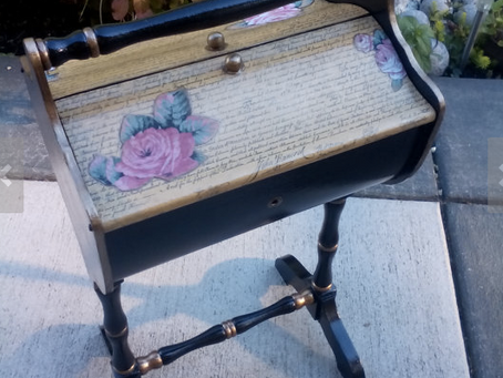 Upcycled Vintage Sewing Box