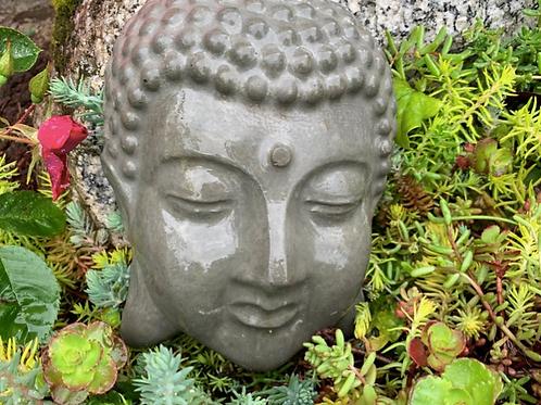 "Sleeping Buddha, 8"" Cement"