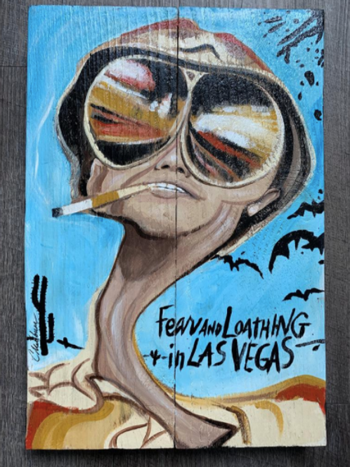 """Fear and Loathing, 10x16"""" Wood"""
