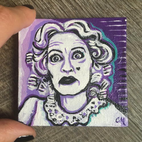 "Bette Davis: Baby Jane Mini 3"" Painting"