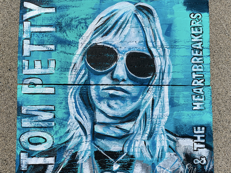 Tom Petty Painting on Wood
