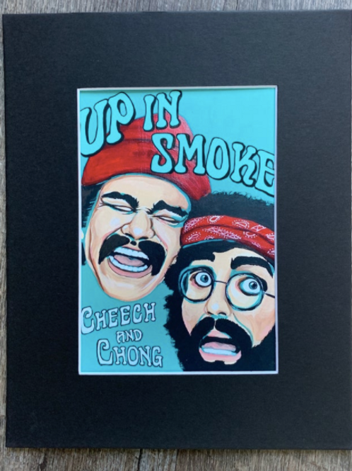 Cheech & Chong Matted Print