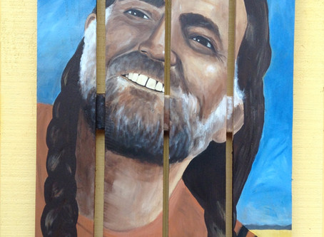 Willie Nelson Painting on Wood