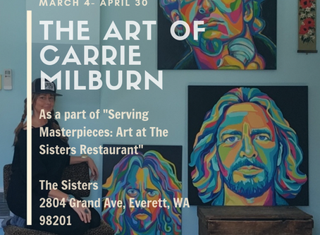Carrie Milburn Solo Art Show at The Sisters Restaurant