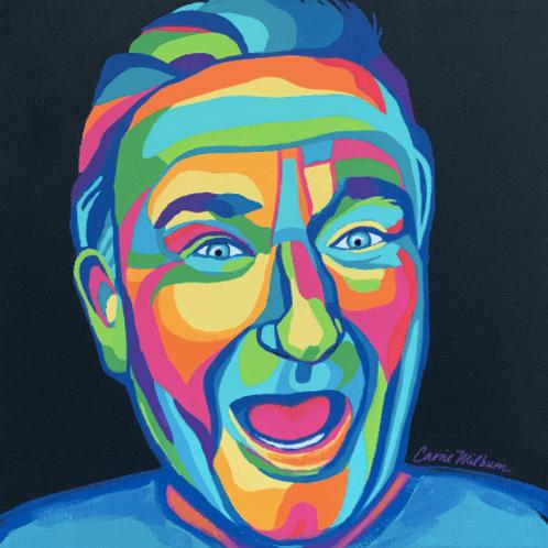"Robin Williams 10x10"" Canvas"