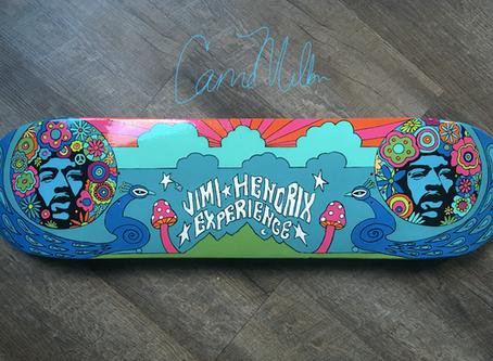 Skateboard Art for Charity: Jimi Hendrix