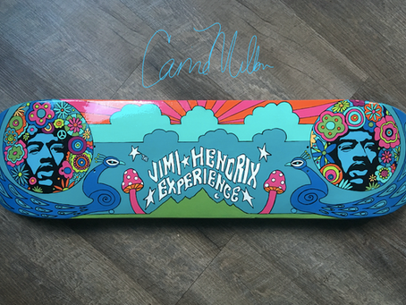 Skateboard Art for Charity: Jimi Hendrix