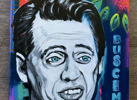 Steve Buscemi Original Painting on Canvas