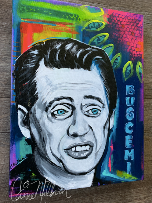 "Steve Buscemi Painting, 9x12"""
