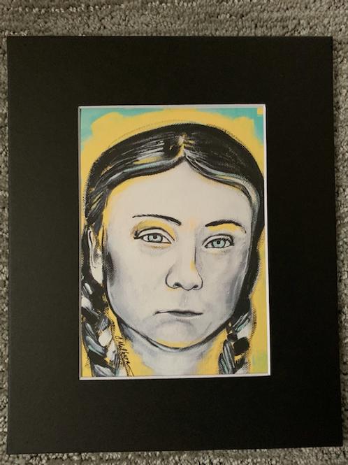 Greta Thunberg Matted Print