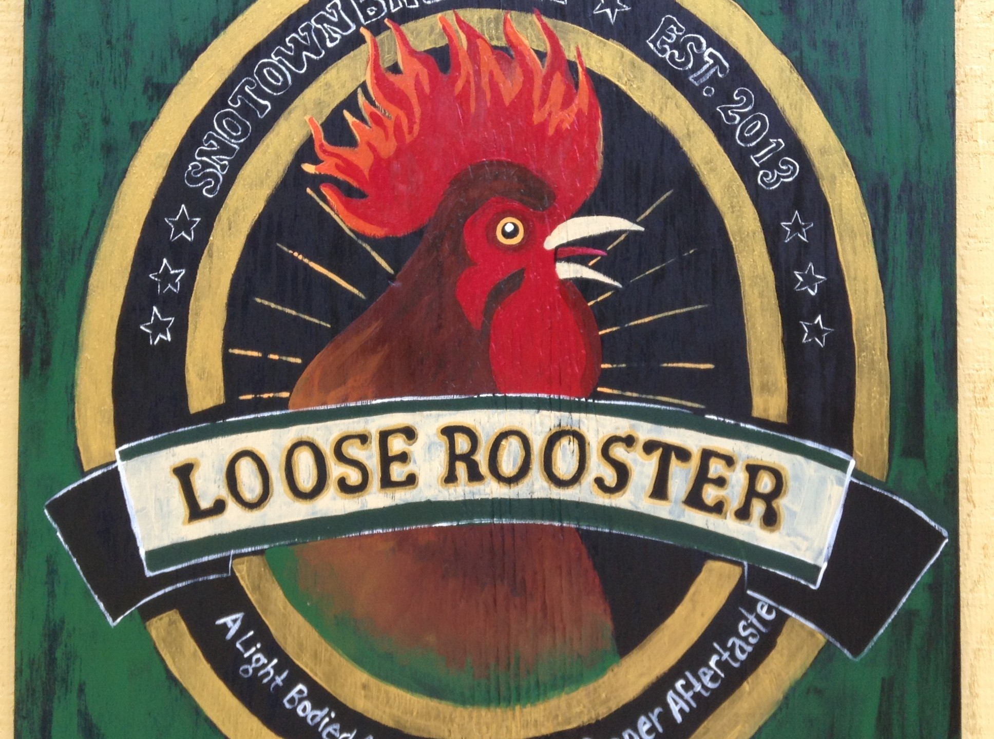 Loose Rooster beer by SnoTown Brewery in Snohomish, WA.