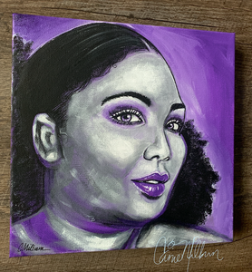 Lizzo painting on canvas