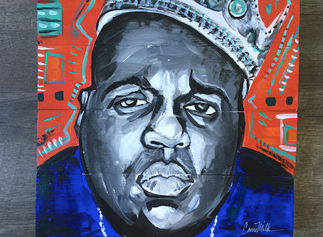 Notorious B.I.G., Biggie Smalls Painting on Wood