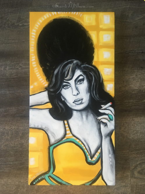 "Amy Winehouse 12x24"" Gallery Wrapped Canvas"