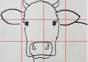cow outline sketch