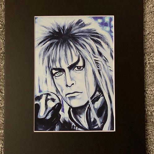 David Bowie Labyrinth Matted Print