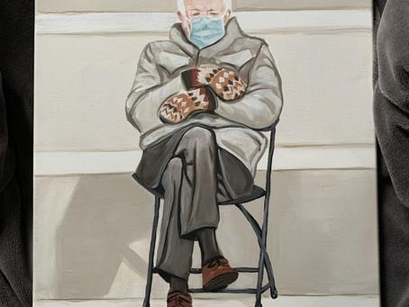 Bernie's Mittens Painting