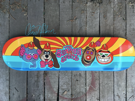 More Skateboard Art by Carrie Milburn