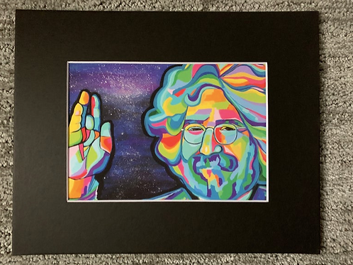 Jerry Garcia Matted Print