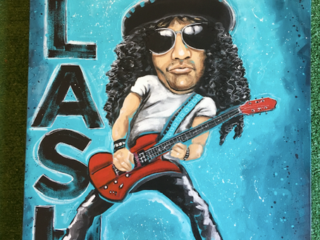 SLASH of Guns N Roses: Original Painting
