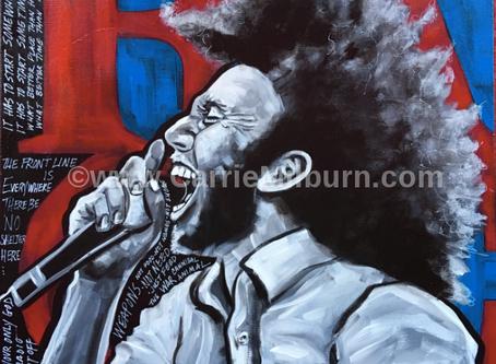 "Zack de la Rocha Painting 20x20"""