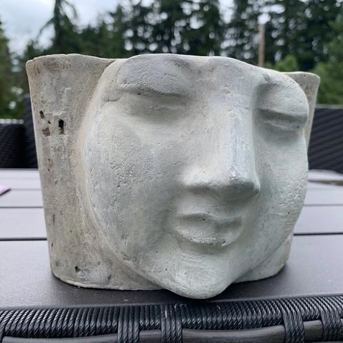 Cement Face Planter
