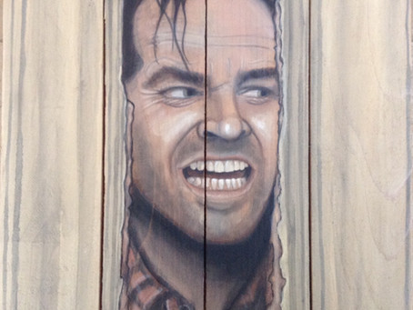 Jack Nicholson Painting on Wood