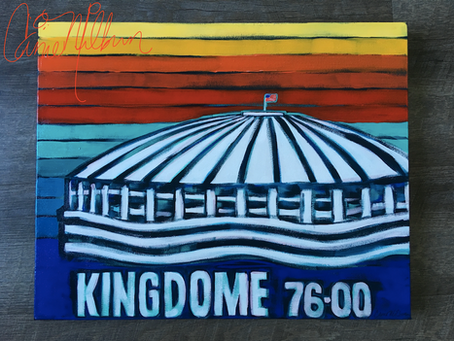 Kingdome Painting on Canvas: Retro Vibe