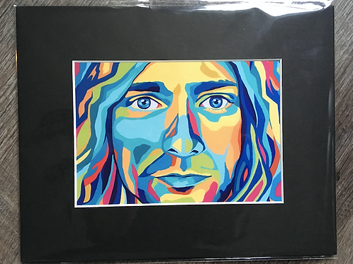 Kurt Cobain Matted Print