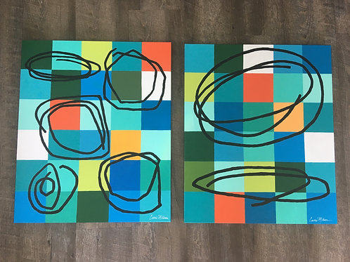 """Retro Abstracts 20x24"""""""