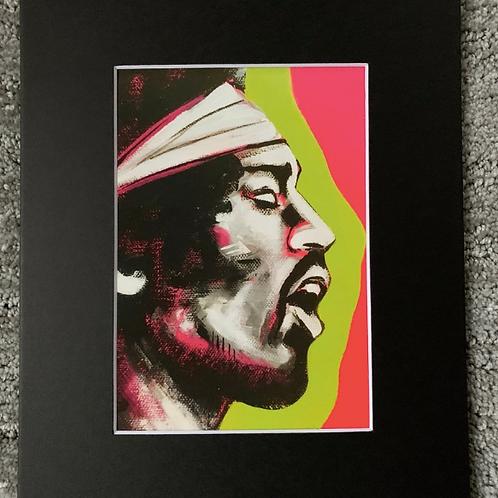 Jimi Hendrix Matted Print