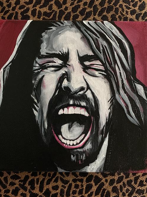 """Dave Grohl 8x8"""" Original"""