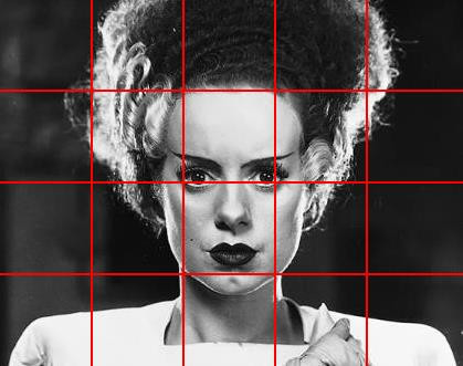 bride of frankenstein drawing grid