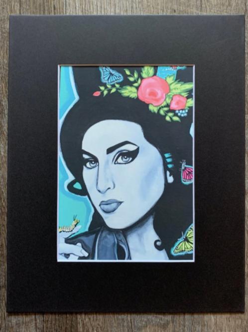 Amy Winehouse Matted Print