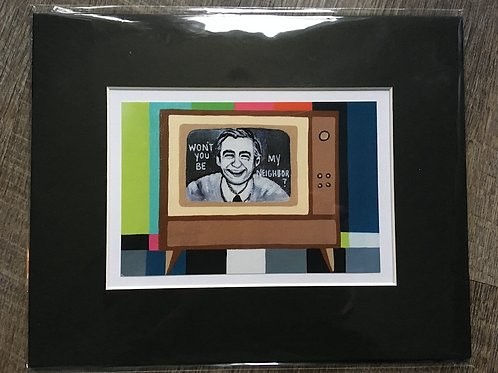 Mr. Rogers Matted Print