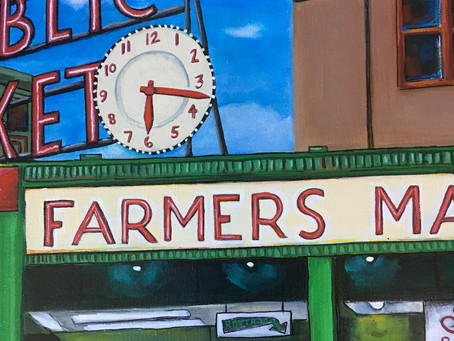 Pike Place Market Painting: Custom