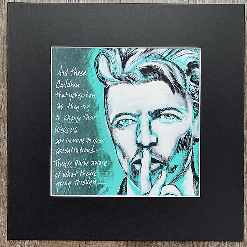 David Bowie Changes Matted Print