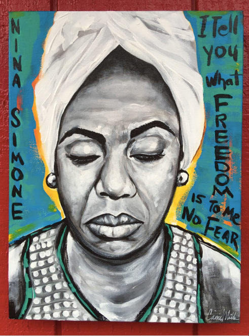 Nina Simone Painting on Canvas