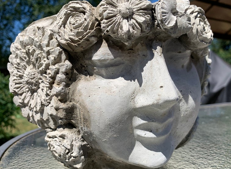 Ethereal Flower Goddess Cement Planters