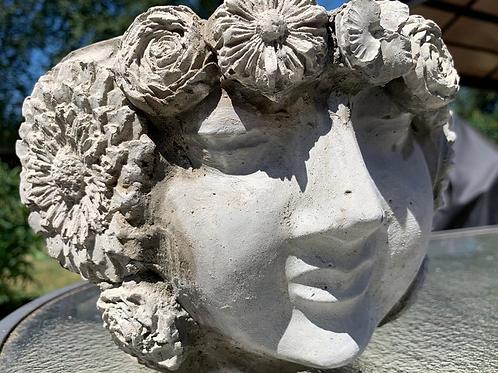 Flower Goddess Cement Planter