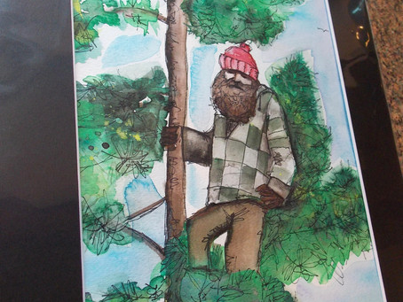 #ManInTree Painting for Charity