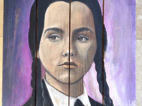 Wednesday Addams (Christina Ricci) Painting