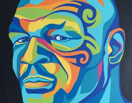 Abstract Mike Tyson Painting