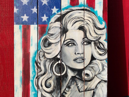 Dolly Painting on Wood: New Art at SnoTown Brewery