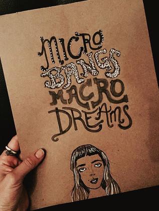 Micro Bangs. Macro Dreams.