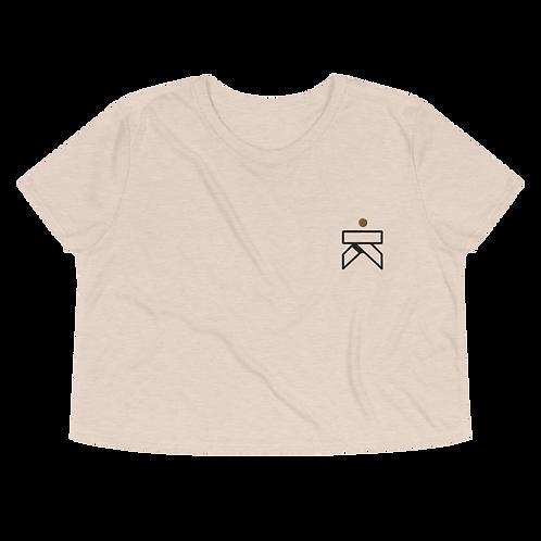 Kaizen Embroidered Monogram - Crop Tee